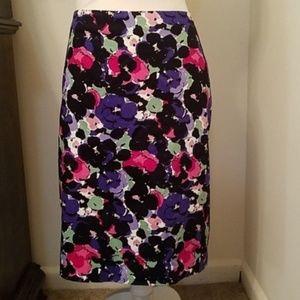 Talbots Petite Floral Pencil Skirt, EUC